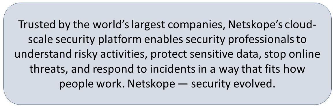 Netskope Cloud DLP, Netskope Active Platform