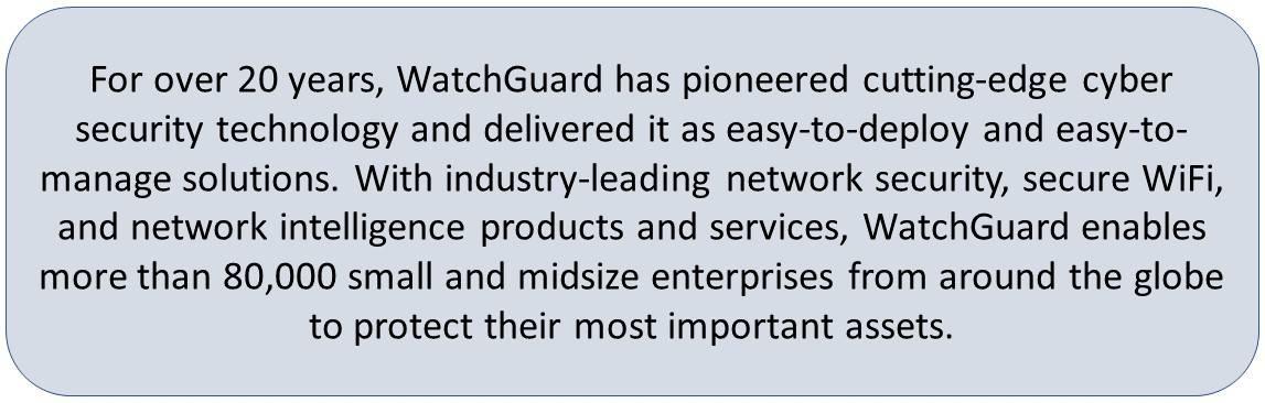 WatchGuard Firewall, WatchGuard System Manager, WatchGuard VPN